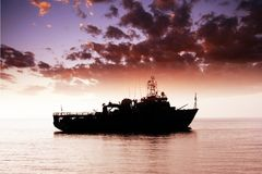 War ship Royalty Free Stock Images
