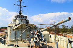 War ship anti air gun Stock Photography