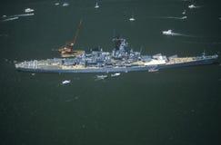 War Ship in New York Harbor, New York City, New York, July 4, 1986 Stock Photos