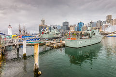 War ships in the Australian Maritime Museum Stock Images