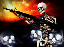 War Skeleton War Background 2 Stock Photography