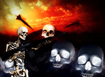 War Skeleton War Background 5 Stock Photo