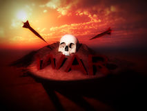 War Skulls 2 Royalty Free Stock Images