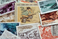 War on stamps Stock Images