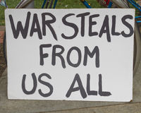War Steals From Us All Sign Royalty Free Stock Images