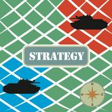 War strategy. Background with tanks on fields Stock Images