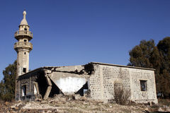 War-struck mosque Stock Photography