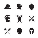 War symbol icons set. Set of  icons on a theme war symbols Royalty Free Stock Image