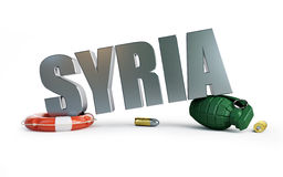 War Syriya 3d on a white background Royalty Free Stock Photography