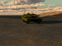 War Tank. A armoured tank for war concepts Royalty Free Stock Image