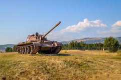 A war tank on a field Royalty Free Stock Image