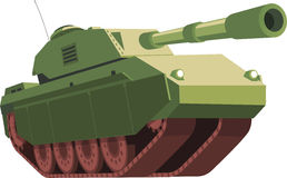 War Tank illustration. War Tank  cartoon illustration Stock Photo