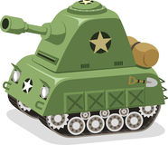 War Tank Military forces. Illustration cartoon Royalty Free Stock Images
