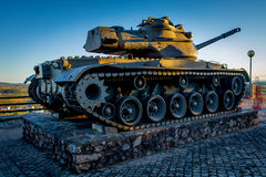 War Tank. A war tank monument near Penha Garcia (Portugal Royalty Free Stock Images
