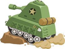 War Tank vehicle climbing cartoon. War Tank vehicle climbing obstacle cartoon,  illustration cartoon Royalty Free Stock Photos