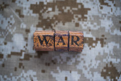 War text on camouflage background Royalty Free Stock Image