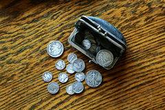 War Time Coins Stock Photography