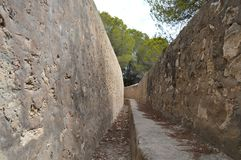 War Trench - Spanish Civil War Trenches Alicante. A Trench from the Spanish Civil war, located in the Clot de Galvany, Santa Pola, Alicante, Spain stock photography