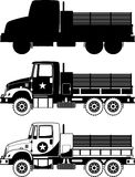 War truck icons. War truck Army Icons  illustration Stock Photo