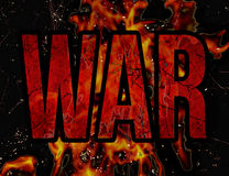 War Typography Grunge Style Illustration Design Royalty Free Stock Photography