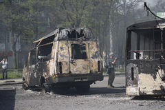 War in Ukraine city Kramators'k Stock Photography