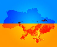 War in Ukraine Crimea. Background Royalty Free Stock Photography