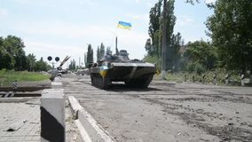 The war in Ukraine stock video footage