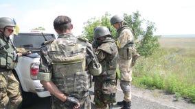The war in Ukraine stock video