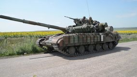 The war in Ukraine stock video footage