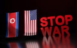 War between USA and North Korea Royalty Free Stock Photos