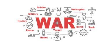 War vector banner Stock Photography