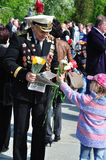 War veteran in 1941. Soviet Army veteran of World War II on victory parade in Kaliningrad, Russia, May 9, 2011 Royalty Free Stock Image