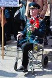 War veteran in 1941. Soviet Army veteran of World War II on victory parade in Kaliningrad, Russia, May 9, 2011 Royalty Free Stock Photos