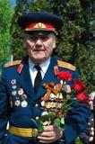 War veteran in 1941. Soviet Army veteran of World War II on victory parade in Kaliningrad, Russia, May 9, 2011 Stock Image