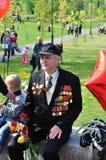 War veteran in 1941. Soviet Army veteran of World War II on victory parade in Kaliningrad, Russia, May 9, 2011 Royalty Free Stock Photography