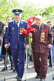 War veteran in 1941. Soviet army veteran of World War II on victory parade in Kaliningrad, Russia, May 9, 2011 Stock Photography