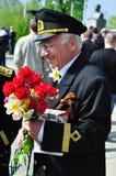 War veteran in 1941. Soviet Army veteran of World War II on victory parade in Kaliningrad, Russia, May 9, 2011 Stock Images