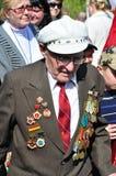 War veteran in 1941. Soviet Army veteran of World War II on victory parade in Kaliningrad, Russia, May 9, 2011 Royalty Free Stock Photo