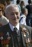 War veteran man portrait. Stock Photo