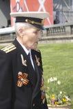 War veteran man portrait. Stock Image