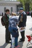 War veteran man portrait. Stock Images