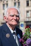 War veteran in the parade in Kiev, Ukraine Royalty Free Stock Image