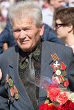 War veteran in the parade in Kiev, Ukraine Stock Photos