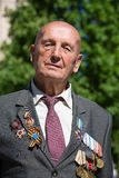 War veteran in the parade in Kiev, Ukraine Royalty Free Stock Image