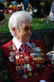 War veteran woman smiling Royalty Free Stock Photo