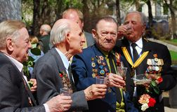War veterans celebrate the Victory Day Royalty Free Stock Photography