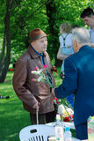 War veterans in Gorky park Stock Photo