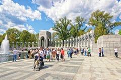 War veterans at National World War 2 Memorial Atlantic Arch Royalty Free Stock Photos