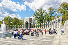 War veterans at National World War Second Memorial Atlantic Arch Stock Photography