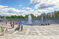 War veterans on National World War Second Memorial Pacific Arch Royalty Free Stock Photos
